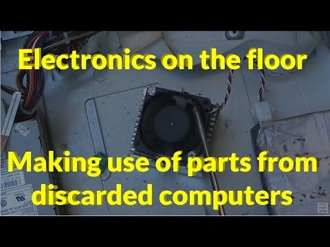 Electronics on the floor: Making use of parts from old computers