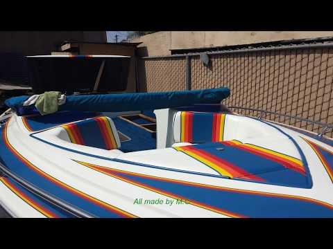 Boat Interior Restoration  Re-upholstery all marine vinyl.
