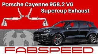 Porsche Cayenne 958.2 V6 I Supercup Exhaust System | FABSPEED MOTORSPORT