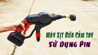 Review - Máy Rửa Xe Cầm Tay Dùng Pin Mini