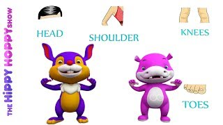 Heads, shoulders, knees and toes I 3D Nursery Rhymes for Kids and Children I Baby Songs