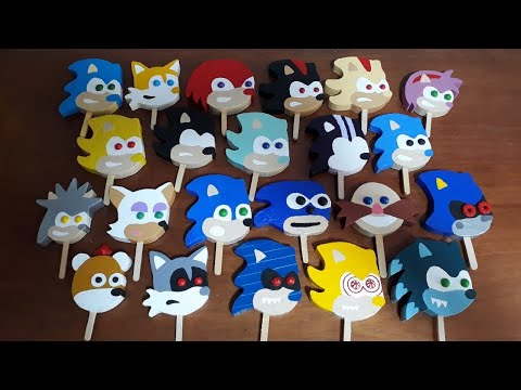 Angry Sonic Popsicles With Gumball Eyes