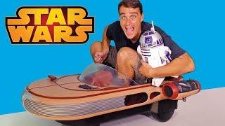 Luke Skywalker Motorized Ride On Landspeeder ! || Toy Review || Konas2002