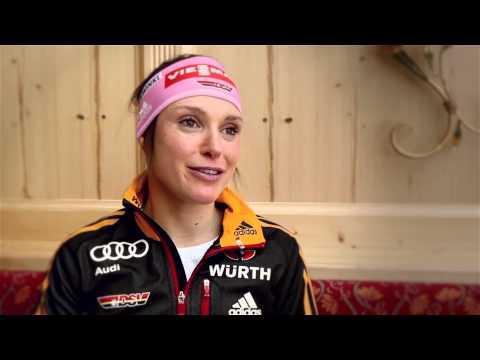 Biathlon: Olympia-Interview mit Evi Sachenbacher-Stehle (29.01.2014)