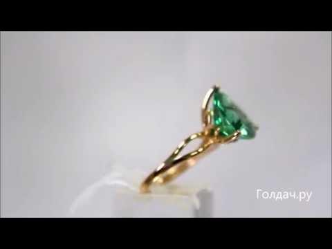 Кольцо с наноситаллом Изумруд арт z7327947