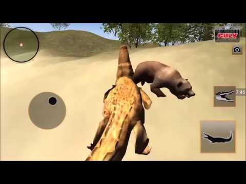Chơi Con Cá Sấu lên bờ biển săn mồi cu lỳ chơi game life of corocodile lồng tiếng vui nhộn