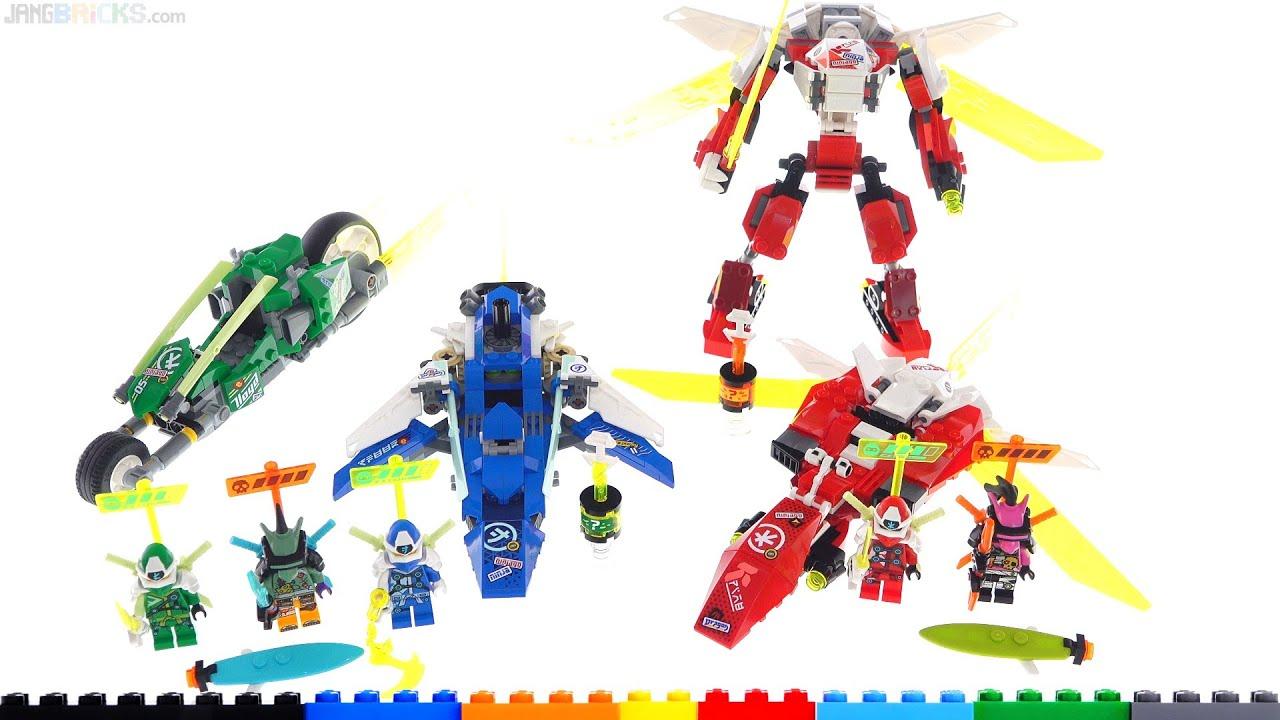 Download LEGO Ninjago Kai's Mech Jet, Jay & Lloyd's Velocity Racers review! 71707 71709