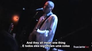 John Frusciante - The Will To Death (Live) Legendado Eng/PT