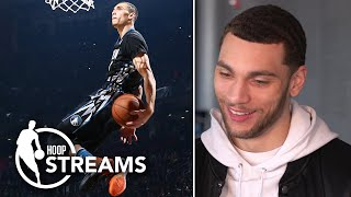 Zach LaVine watches 2016 NBA Dunk Contest highlights vs. Aaron Gordon with Omar Raja | Hoop Streams