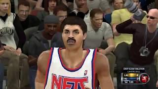 NBA 2K12 : 1990-91 LA Lakers versus New Jersey Nets    4K 60fps   PC Gameplay