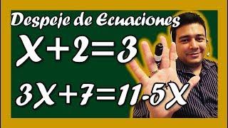 Como Despejar Fácilmente Ecuaciones Lineales - Ejemplos - E...