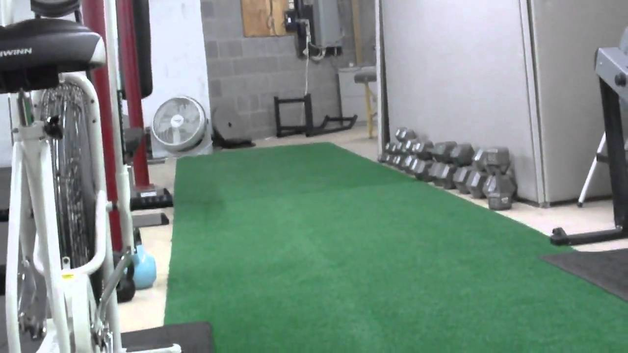 Putting turf down in fitness studio avi youtube