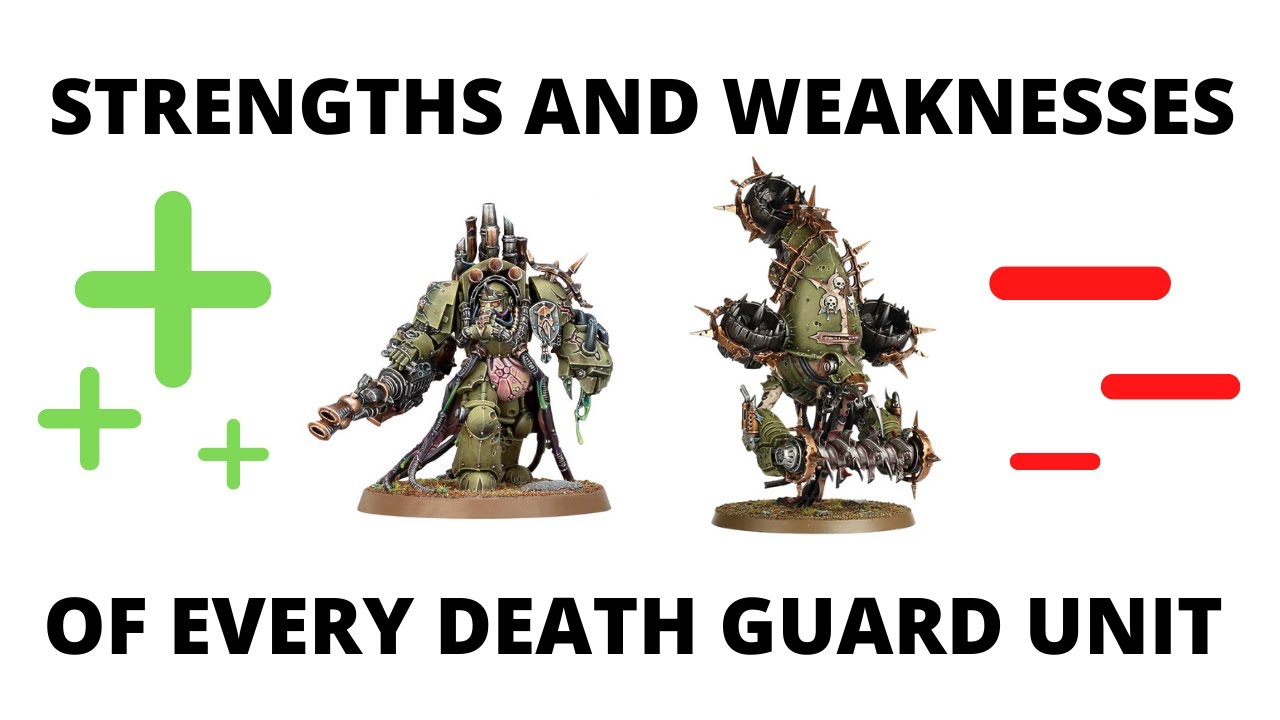 Strengths and Weaknesses for EVERY Codex Death Guard Unit