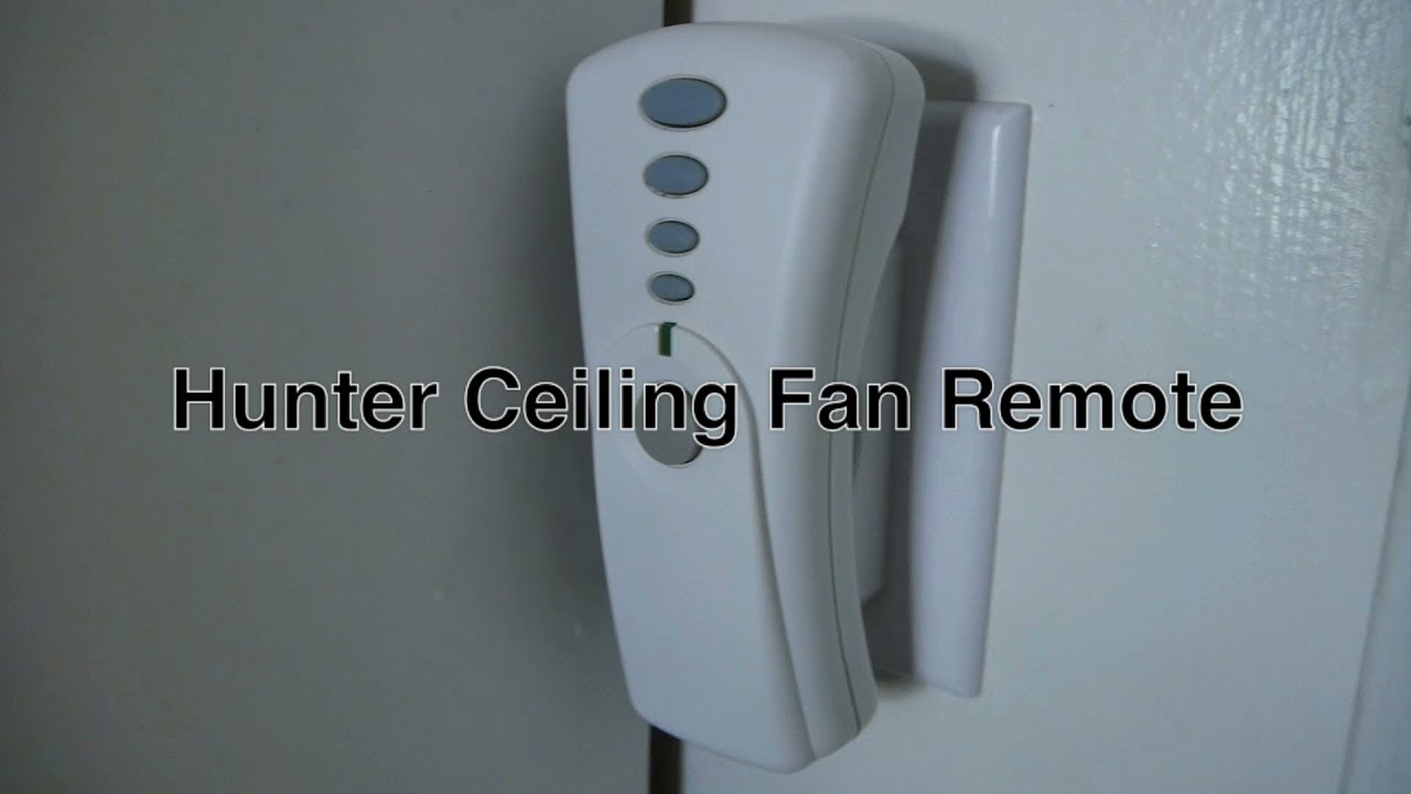 Hunter Ceiling Fan Remote Control With Light & Speed Buttons