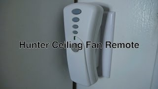 Hunter Ceiling Fan Remote Control With Light & Speed Buttons / Universal Dip Switch On 350 Mhz Freq