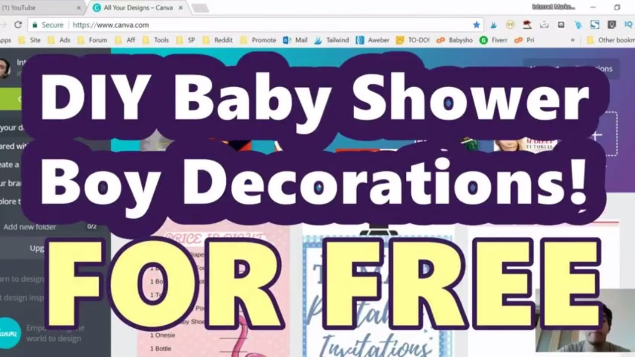 DIY Baby Shower Decorations For Boy Themed Events
