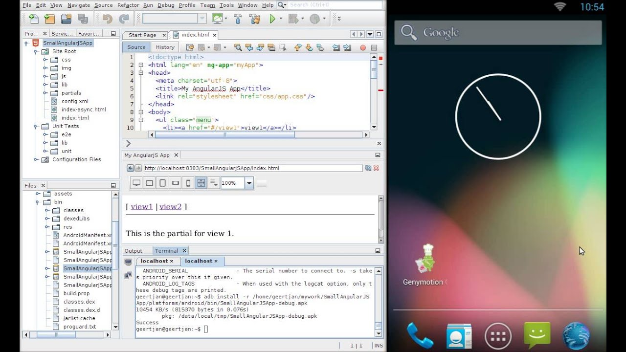 From AngularJS Seed to Android via Cordova!