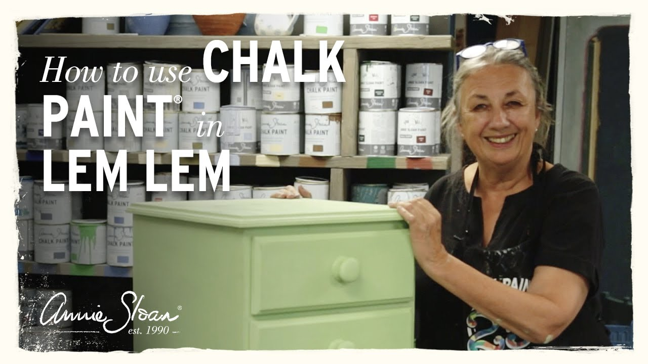 How To Paint With Chalk In Lem Annie Sloan