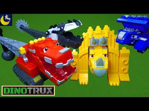 NEW Dinotrux Mega Bloks Toys Mega Construx Tail Smash Ty Rux D Structs Dozer Ton Ton Dinosaur Toys