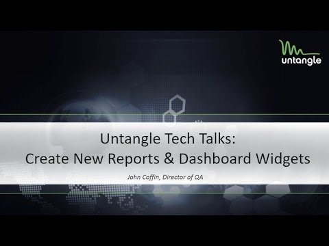 Tech Talks: Create New Reports & Dashboard Widgets