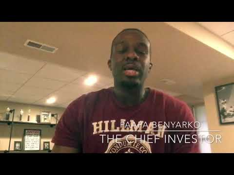 I am the Chief Investor #PROMOTIONVIDEO (go to the video section for all my episodes so far)