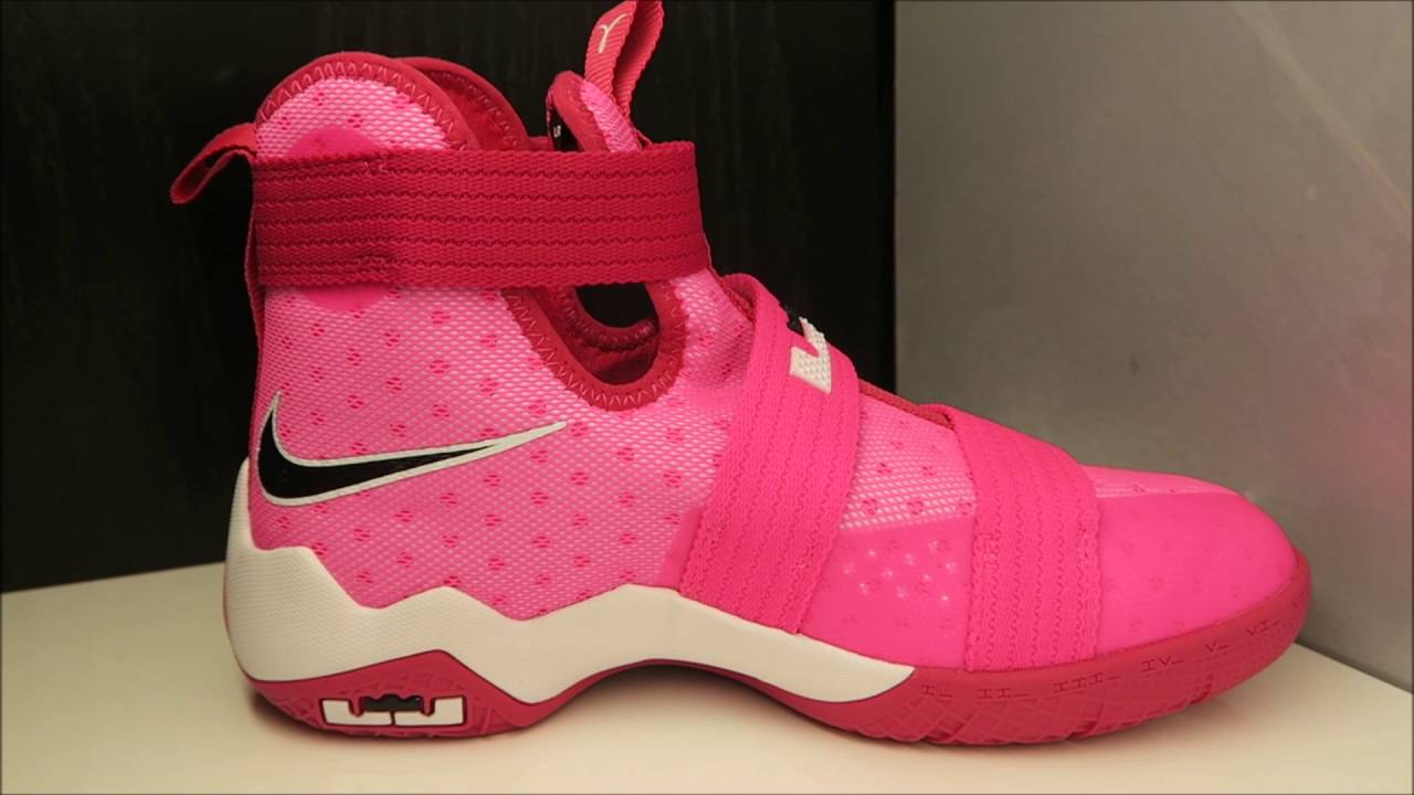 6cf33a1dbbca Nike Lebron Soldier 10 Kay Yow Think Pink Sneaker (Detailed Look ...