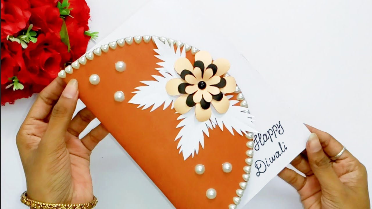 diwali greeting card how to make greeting card for