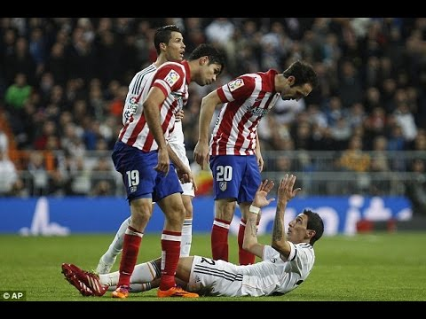 El Derbi - Real Madrid vs. Atletico Madrid (Fights, Fouls, Red Cards)
