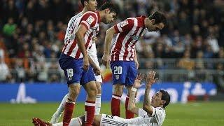 El Derbi - Real Madrid vs Atletico Madrid Fights Fouls Red Cards