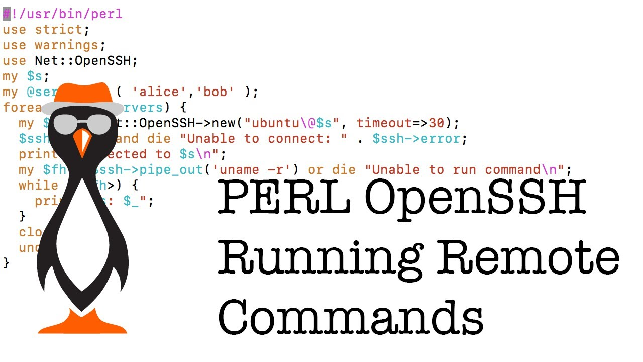 SSH Connections using PERL and Net::OpenSSH - The Urban Penguin