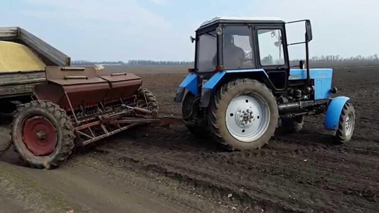 Сеялка СЗ-3,6 и Трактор Т-25 (Владимировец) - YouTube