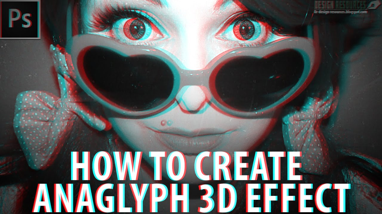 photoshop how to make 3d effect