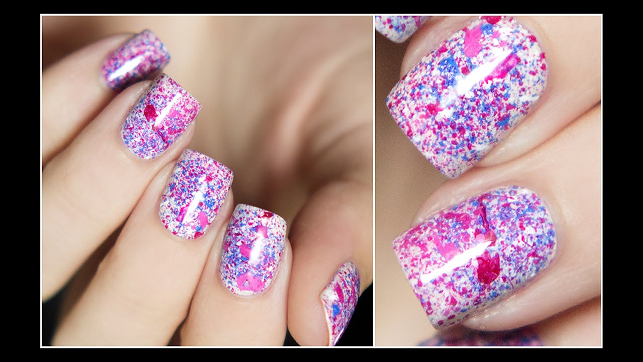 Easy splatter nails using a toothbrush youtube prinsesfo Image collections