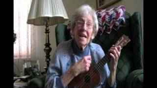 "Aunt Vi and her ukulele ""A bicycle built for two"""