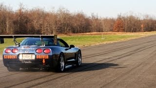 Single Turbo Corvette Accelerates on Air Strip