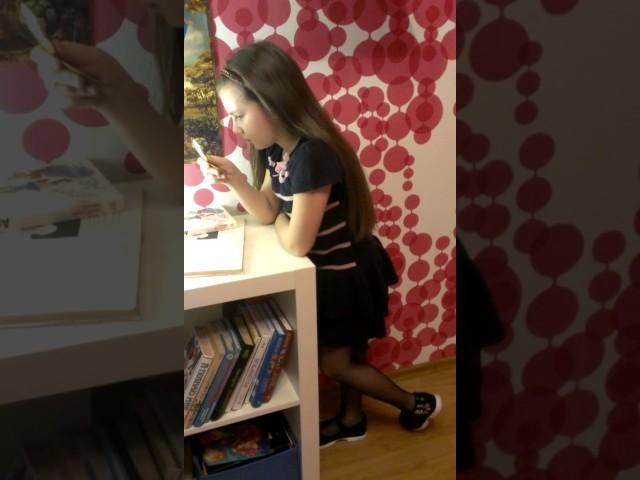 Изображение предпросмотра прочтения – ДарьяГоловина читает произведение «У меня  веснушки» А.Л.Барто