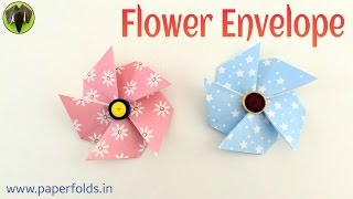 Flower Envelope - DIY Origami Tutorial by Paper Folds - 680