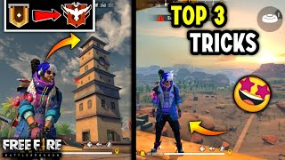 Top 3 Cool Tricks In Free Fire 🔥 [Rank Mode ✔️] // Techno BanDa