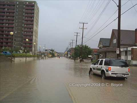 Flood Photos from July 15 2004 Peterborough Ontario Canada