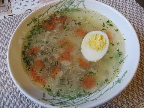 Суп куриный с вермишелью и яйцом без зажарки.