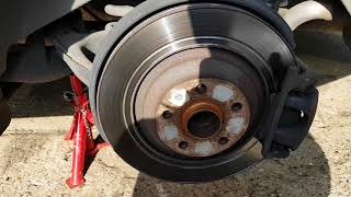 Audi A6 2008 change rear brake pads and discs. (With electronic parking brake)