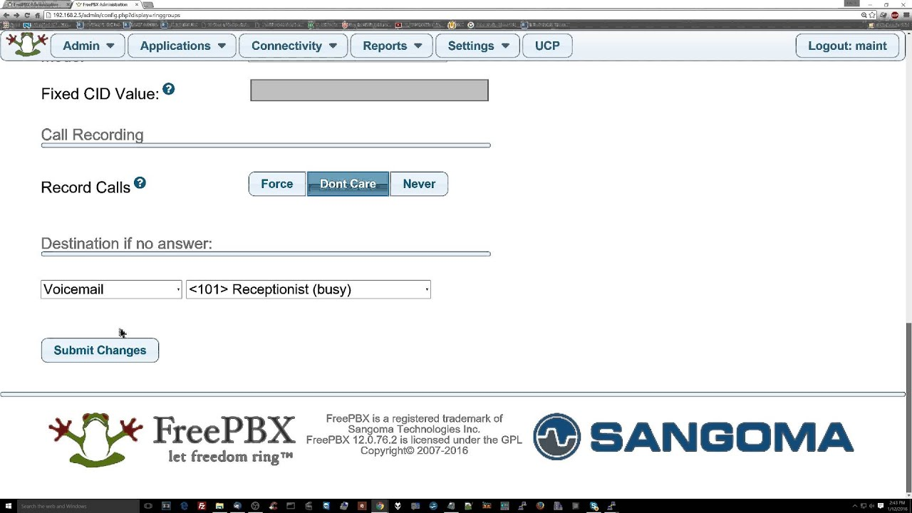 [part 13] Setting up ring groups in FreePBX