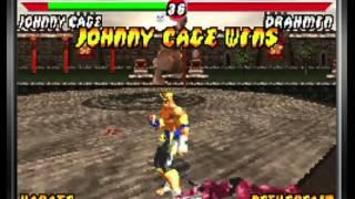 Mortal Kombat: Tournament Edition (Game Boy Advance) Arcade as Johnny Cage