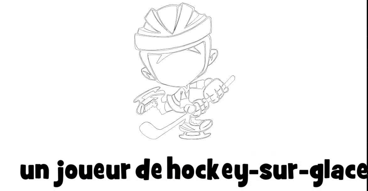 1 dessin par jour un joueur de hockey sur glace youtube - Dessin de hockey ...