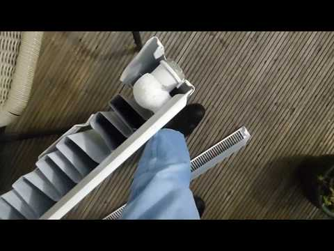 How to remove single panel radiator grills to clean the dust out.