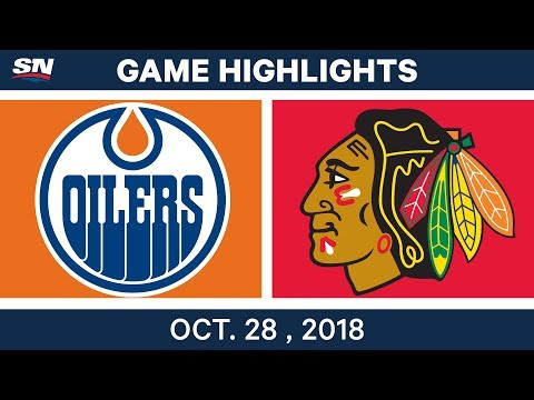 NHL Highlights | Oilers vs. Blackhawks - Oct. 28, 2018