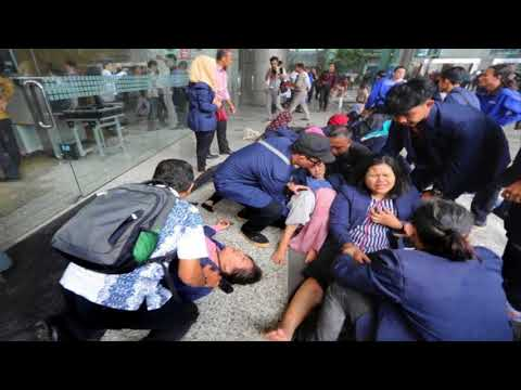 Indonesia Stock Exchange: Student describes chaos after walkway crumbled without warning