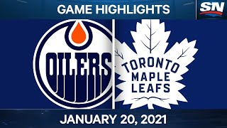 NHL Game Highlights | Oilers vs. Maple Leafs - Jan. 20, 2021