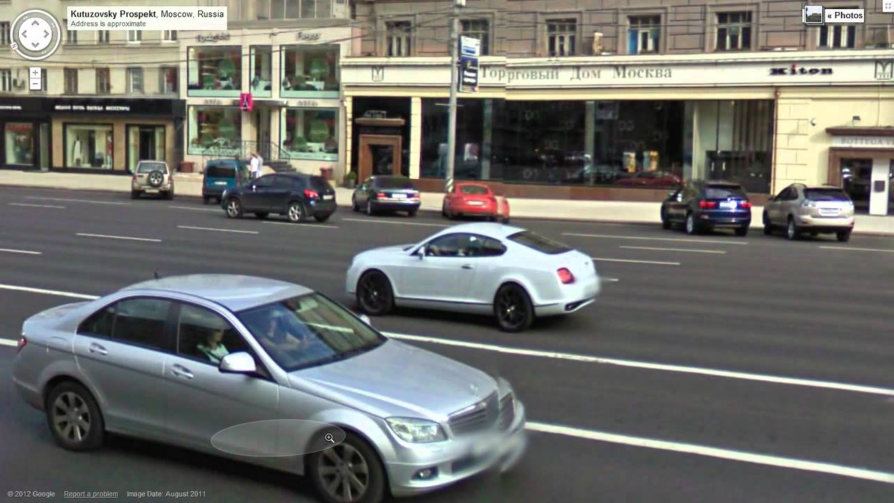Google Street View Supercars Of Moscow Youtube