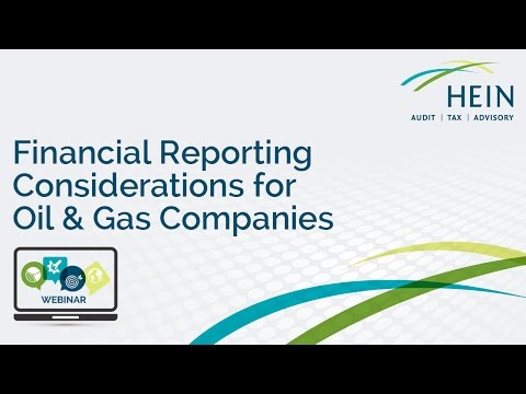 Financial Reporting Considerations for Oil & Gas Companies Webinar